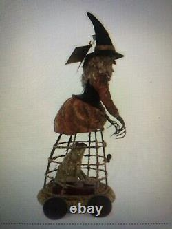 Bethany Lowe Halloween Witch Hocus Pocus Witch w Frog in Cage SOLD OUT