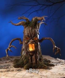 Bethany Lowe Hauted Scary Tree Halloween Decor Paper Mache Figurine, 27.5''H