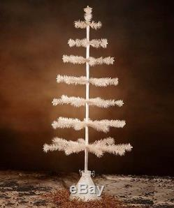 Bethany Lowe Ivory Tea Stained Feather Tree 39