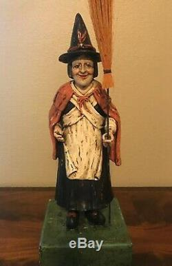Bethany Lowe Old Witch with BroomDiscontinued