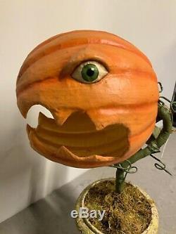 Bethany Lowe Prickly Pumpkin Plant Lg