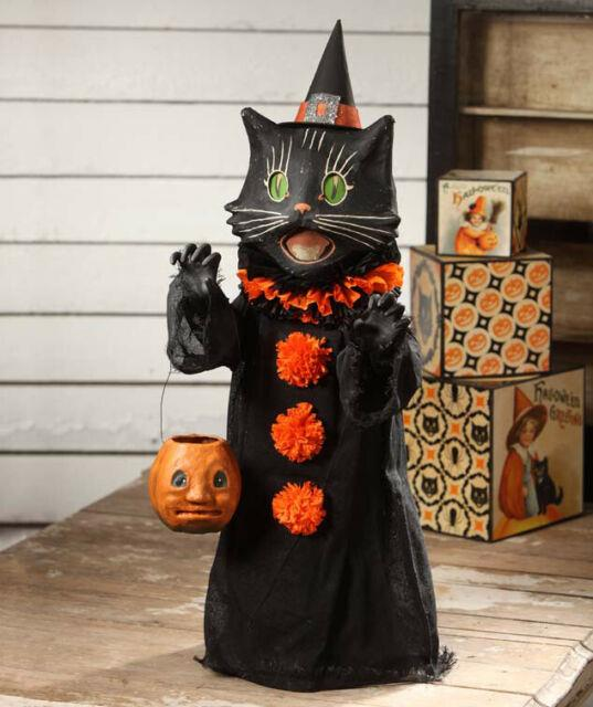 Bethany Lowe Scaredy Black Cat Ghoul 28 Trick Or Treater Halloween Figure