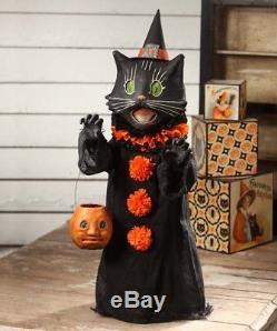 Bethany Lowe Scaredy Black Cat Ghoul Halloween Fun Figurine, 28''H