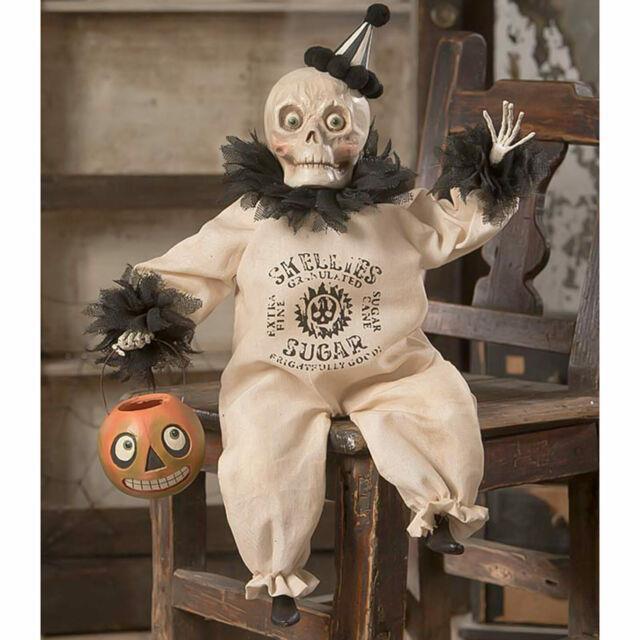 Bethany Lowe Sugar Skeleton Clown Halloween Holiday Retro Vntg Decor Figurine