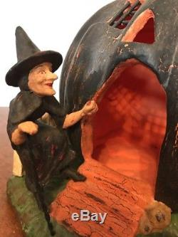 Bethany Lowe There Was An Old Witch-retiredRare-light included