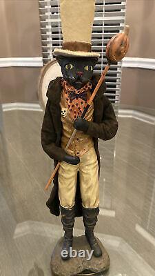Bethany Lowe Vergie Lightfoot Halloween Black Cat Ring Master RARERetired