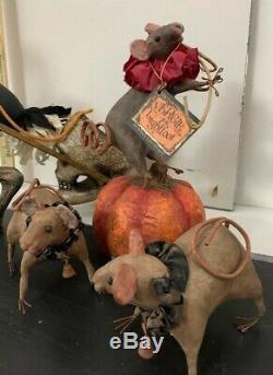 Bethany Lowe Vergie Lightfoot Halloween Circus Ostrich & Mice 2012