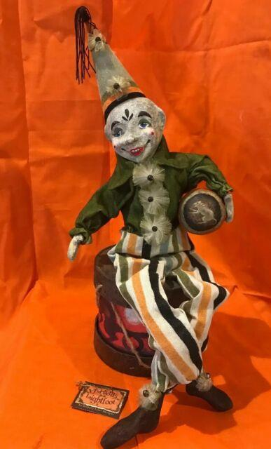 Bethany Lowe Vergie Lightfoot Halloween Clown On A Drumretired