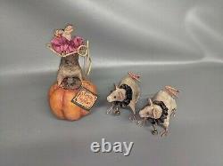 Bethany Lowe Vergie Lightfoot Halloween Mice Set With Tag & Original Box (DP)