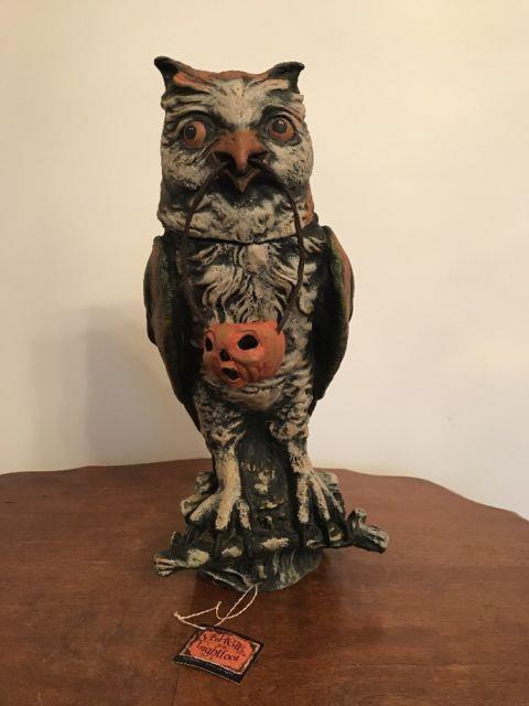 Bethany Lowe Vergie Lightfoot Halloween Owl Container Withjack Olanternretired