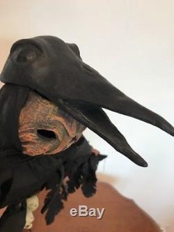 Bethany Lowe Vergie Lightfoot Jack OLantern with Crow Mask-retiredRare