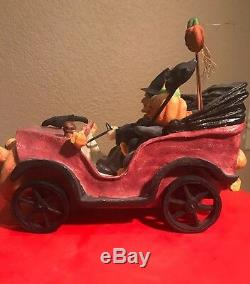 Bethany Lowe Witch, Crows & JOL Man in A CarVery Rareretired 2005