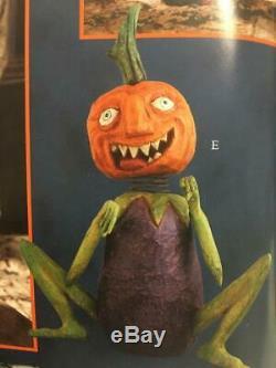 Bethany Lowe by Anthony Costanza Halloween Eggplant Pumpkin Man CC0047 RETIRED