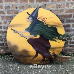 Boardwalk Originals Halloween Flying Witch Moon Bonnie Barrett 2005 Dummy Board