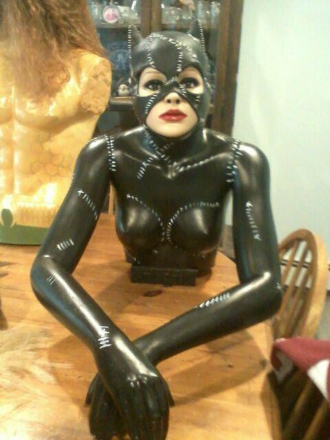 Catwoman Life Size Bust Ooak 11 3/4 Torso Superhero Prop Batman
