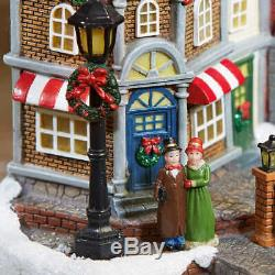 Christmas Village Animated With Lights Music Rotating Tree Train 30 Pieces 8Song