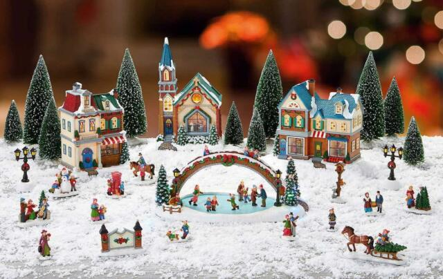 Christmas Village Animated With Lights And Music, Limited Edition 30 Pieces