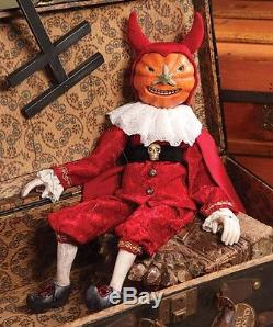 Collectible Twisted Jack Marionette Pumpkin Head Devil Bethany Lowe RC1950