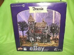 DRACULA'S CASTLE Dept 56 Castle & Figure with box great shape 2002 lights up