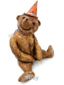 Debbee Thibault Fall Halloween Teddys Treats Bear and Jack o Lantern Pumpkin