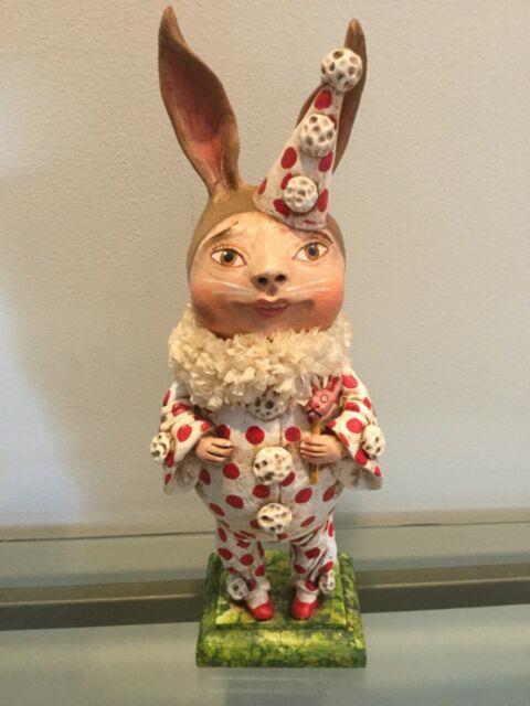 Debra Schoch 11 Kid In Bunny Costume 2013 Original Paper Clay Piece