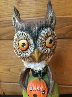 Debra Schoch Halloween Original Piece 2012 Dressup Owl Girl 10.5 Signed