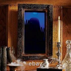 Deluxe Animated Ghost Mirror Halloween Prop NEW
