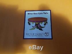 Department. 56 Halloween Witch Shoe Cake Plate Krinkles Patience Brewster