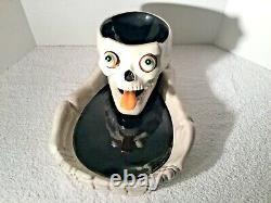 Department Dept 56 Halloween Skull Skeleton Chip & Dip with Eyeball Speaders
