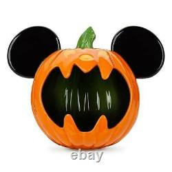 Disney Mickey Mouse Jack-o'-Lantern Halloween Candy Bowl NEW NEVER USED SOLD OUT