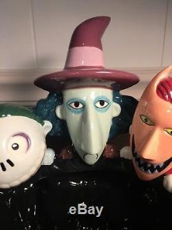 Disney Nightmare Before Christmas Lock Shock Barrel Halloween Candy Bowl Dish