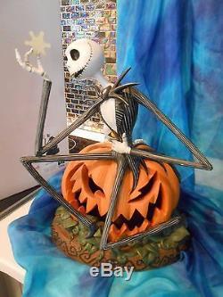 Disney Parks Nightmare B-4 Christmas Jack Skellington HUGE HEAVY Sculpture & BOX