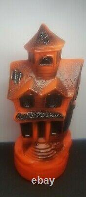Empire Vintage Halloween Haunted House 13 Blow Mold 1969 with Light Cord Works