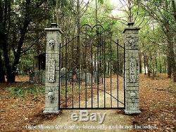 Evil Soul Studios Lighted Deadwood Skull Cemetery Entrance Over 5 Halloween
