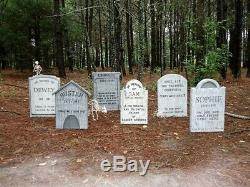 Evil Soul Studios Pet Cemetery Semetery Tombstone Set of 5 Halloween Prop withPets