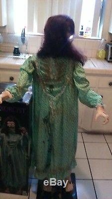Exorcist Regan Life-size Halloween Prop. Head Spins, Scary Dialog, Eyes Light