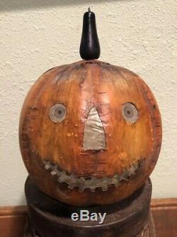 Extremely Rare Bethany Lowe Halloween Vintage Tin JOL Parade Lantern Primitive