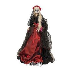 FGS72648 20 La Rosa Catrina Halloween Doll Day of Dead Los Muertos Florence