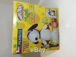 GEMMY 7' Lighted Halloween Peanuts Snoopy & Woodstock Airblown Inflatable RARE