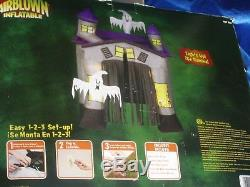 Gemmy 9' Haunted House Halloween Airblown Inflatable withStrobe Lights & sound Box