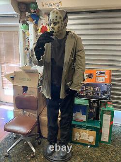 Gemmy JASON VOORHEES Life Size Animated Halloween Figure Spirit SEE VIDEO