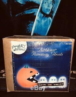 Gemmy Rare Halloween Inflatable Pacman Runaway Ghosts Scene Spirit Halloween