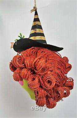 Glitterville Halloween Spooky Kook Ornaments Set of 6 Black Cat Witch Pumpkin