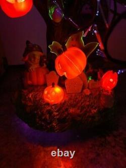 Glowing Fiber Optic 18 Halloween Tree Avon Spooky Bat Ghost Jack-o-lantern Cat