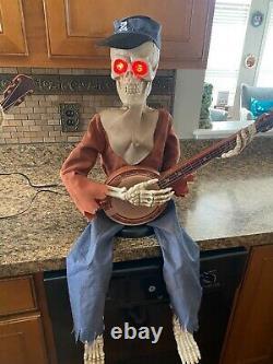 Grandin Road Animated Halloween Dueling Banjo Playing Skeletons