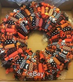 Grandin Road Candy Wreath Halloween Decor NEW 28-828922
