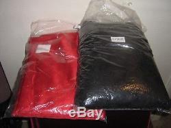 Grandin Road Exclusive 2011 Red Satin/black Rose Gossamer Halloween Tablecloths