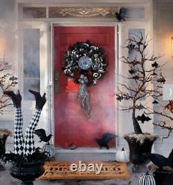 Grandin Road Stylish TIC TOC Halloween Wreath