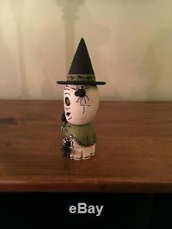 Greg Guedel Original Skeleton Witch Carving
