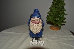 Greg Guedel Santa Carving. Signed and dated 2002. Blueberry Santa